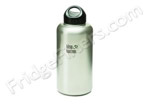 Klean Kanteen K64WSSL 64-Ounce Stainless Steel Wide Mouth Bottle with Loop-cap