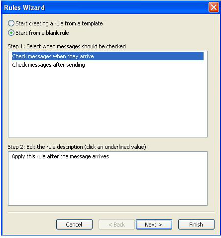 how to create auto reply message in outlook 2007
