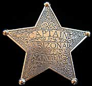 Arizona Rangers Captain Badge - Replica