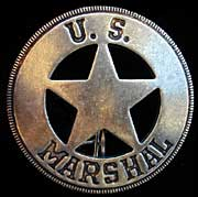 U.S. Marshal Badge - Round - Replica