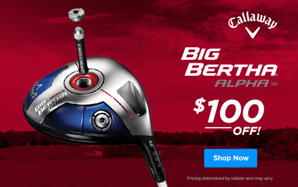 Callaway Big Bertha Alpha sale