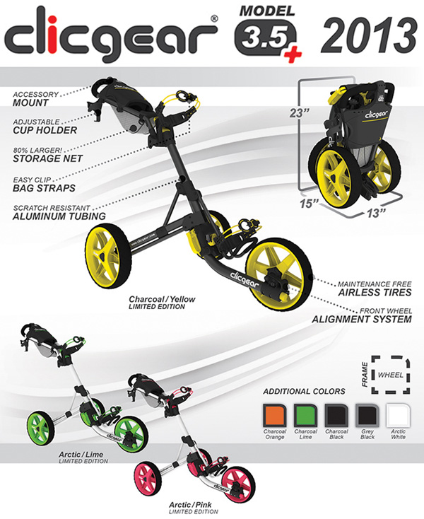 Clicgear 3.5+ Golf Cart Specs