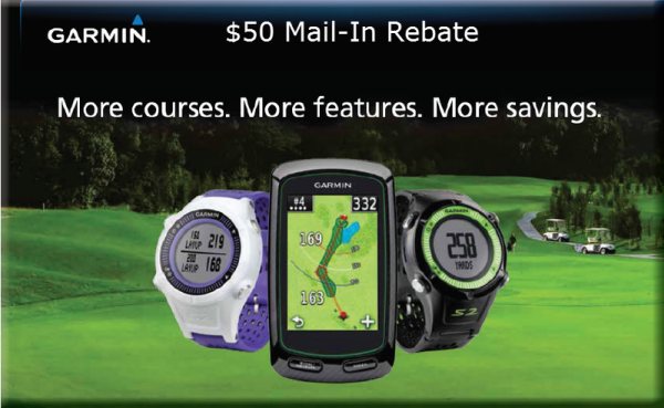 Garmin $50 mail in rebate