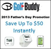 Golf Buddy Fathers Day Promo