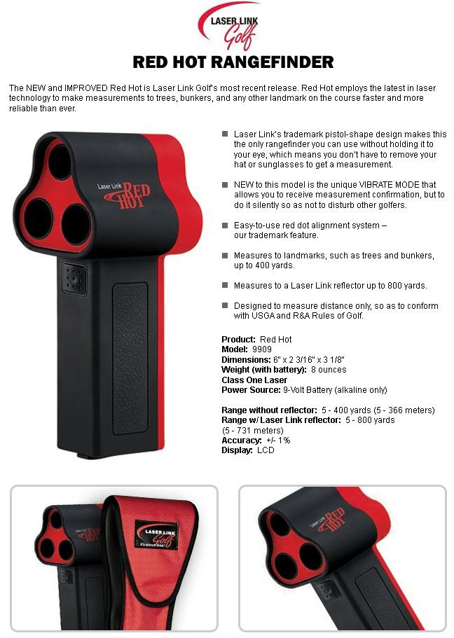 Laser Link Red Hot Laser Rangefinder