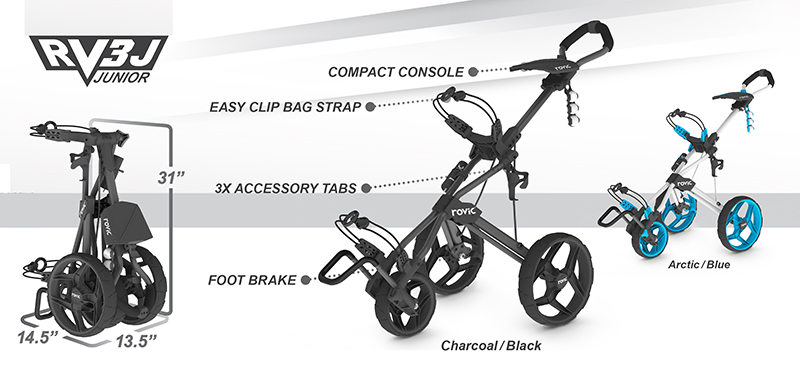 Clicgear Junior Rovic RV3J Push Carts Specs
