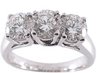 Prong Setting Diamond Anniversary Rings