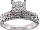 Our collection of engagement rings and wedding band sets