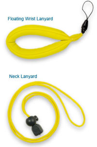 Aqua Box Waterproof Case Floating lanyard and Adjustable Rope Neck lanyard.