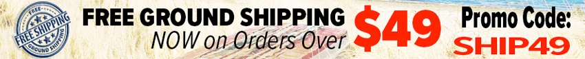 Free Ground Shipping on Orders over $49.