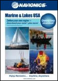 Navionics State Selectable Chart of Marine and Lakes USA.