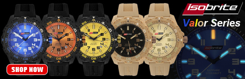Isobrite Valor Series Tritium Watches