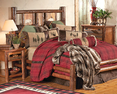 Pine Crest Bear Log Bedroom Furniture Collection