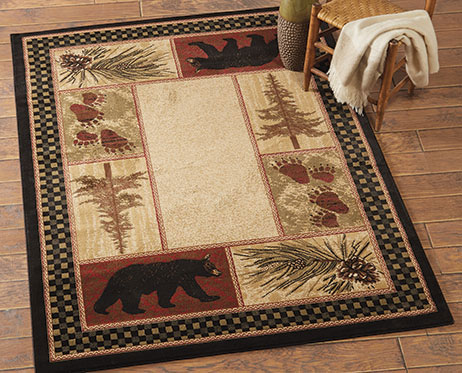 Timber Woods Bear Rug Collection