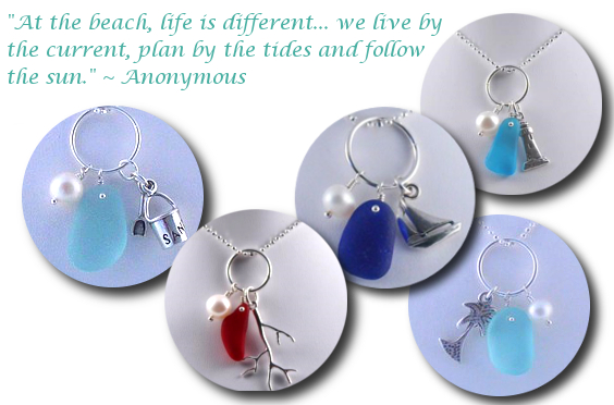 Genuine Sea Glass Charm Necklaces