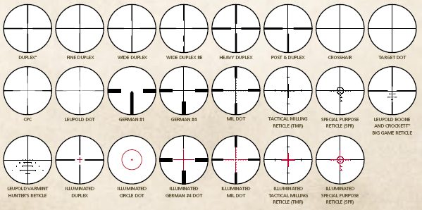 black ops reticles pictures