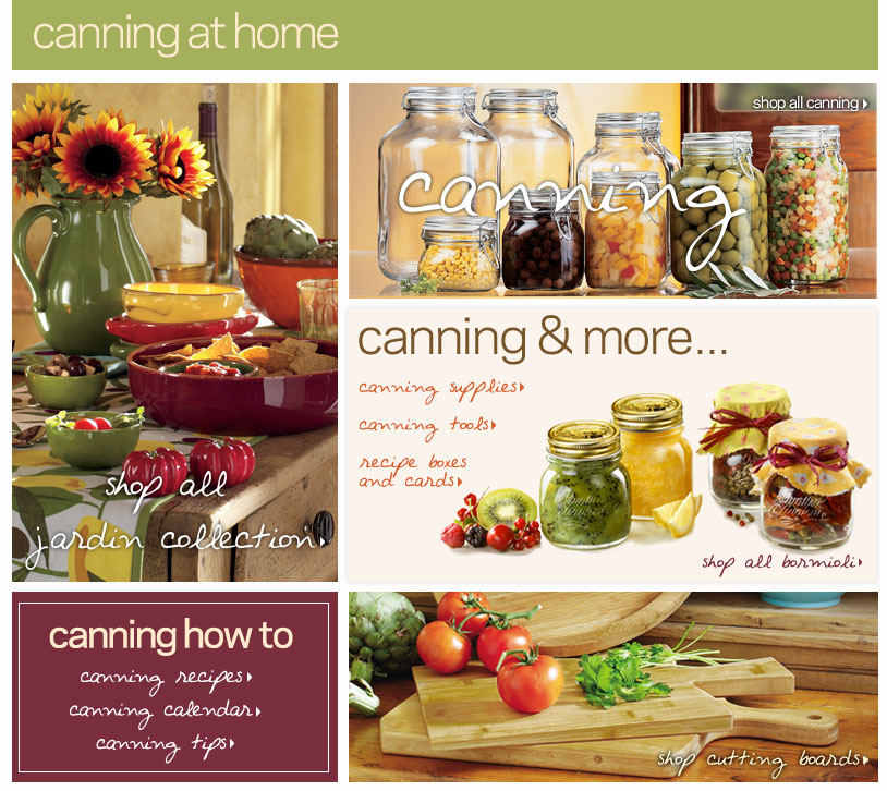 Canning at Home, Canning Supplies, Canning Reipes, Bormioli, Canning Calender, Canning tips