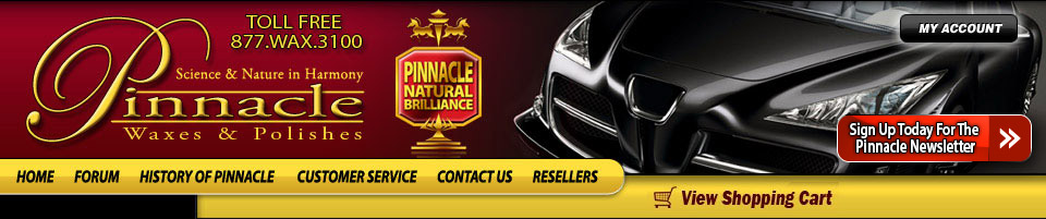 Shop Pinnacle Car Care Products for Pinnacle car wax, polishes, cleaners, microfiber products, detailing tools, & how to tips.