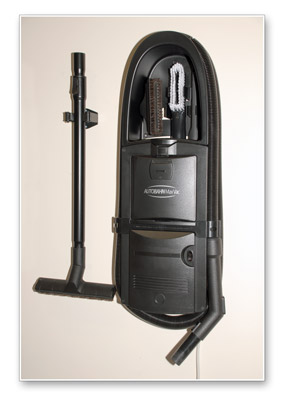 The Autobahn Garage Vac is like having a central vac without the construction!