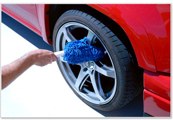 Use the Microfiber Wishbone Wheel Duster to remove brake dust between cleanings.