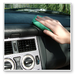 A damp microfiber applicator will remove dust and does not leave lint!