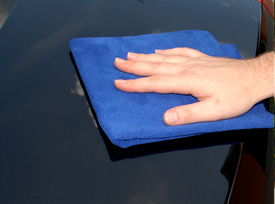 Wipe the paint dry with a soft Microfiber Towel.