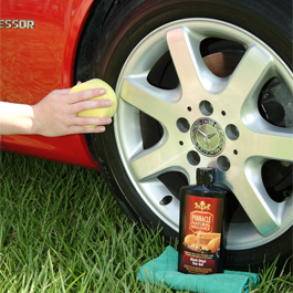 Use Pinnacle Black Onyx Tire Gel to protect tires.