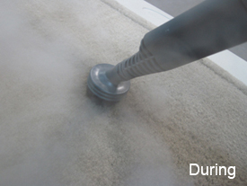 The Vapamore PRIMO Steam Cleaner in use
