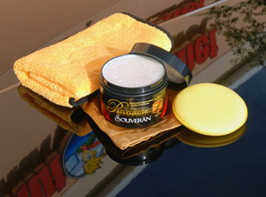 Pinnacle Souveran Wax is our best car wax for black and red paint.