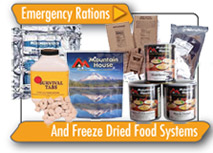 Emergency Rations and Freeze Dried Food Systems