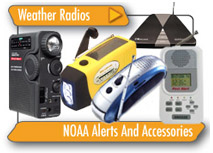 Weather Radios, NOAA Alerts And Accessories