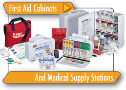 First Aid Cabinets and Medical Supply Stations