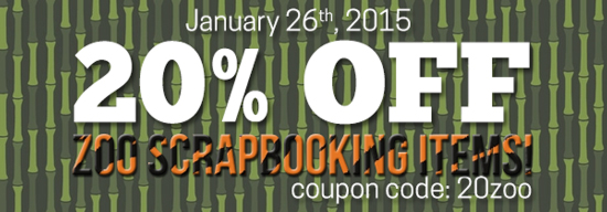 20% off Zoo Scrapbooking Items! cc=20zoo