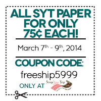 All SYT Paper for only 75� each! cc=75paper