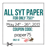 All SYT Paper for only 75� ea. cc=paper75
