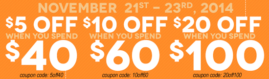 Save up to $20 off this weekend only!
