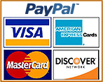 We Accept Paypal, Visa, Mastercard, Discover, and American Express!