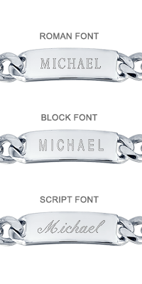 ID Bracelet Engraving