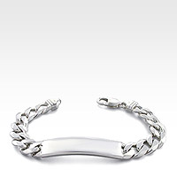 Sterling Silver ID Bracelet for Men