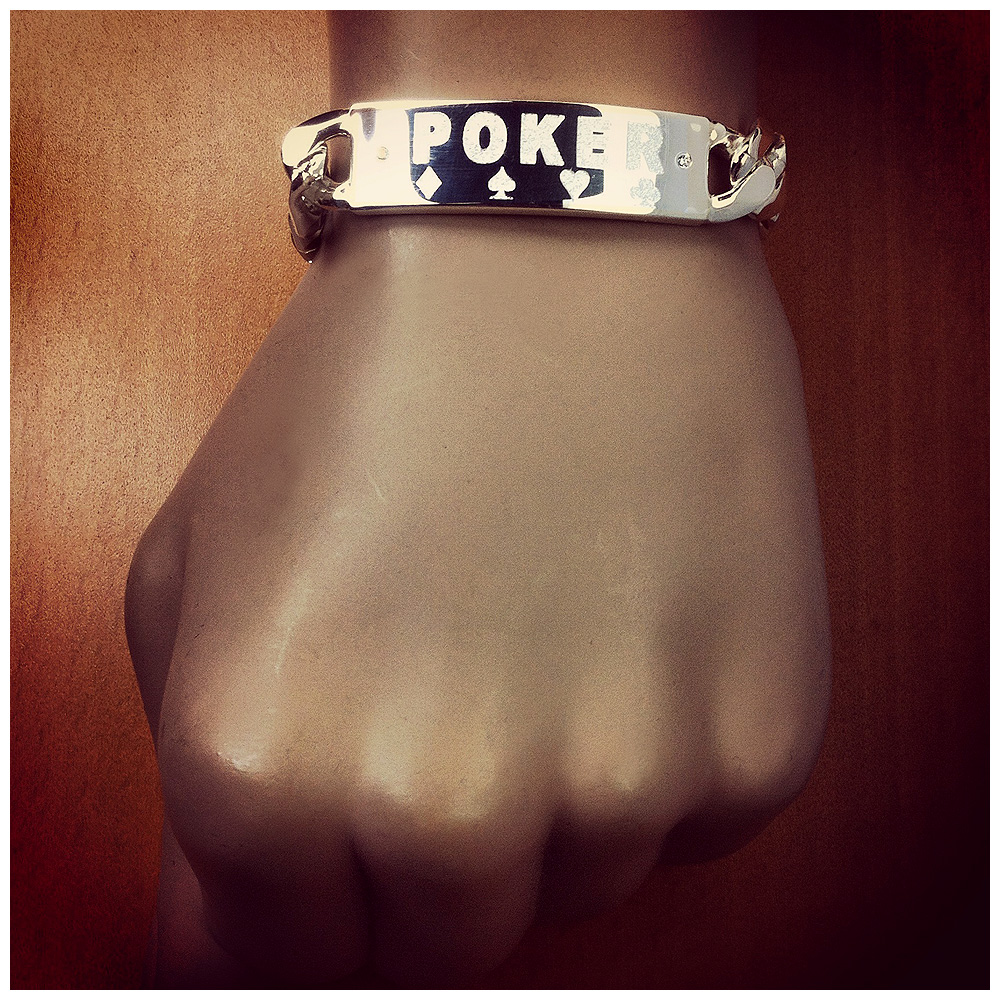 Men's ID Bracelet Custom Engraving - Poker Championship