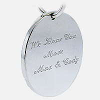 Mother Charm Engraving