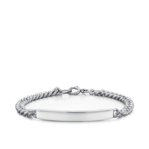 Sterling Silver Women's Id Bracelet (engravable) Picture