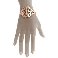 Monogram Cuff Bracelet Fit Detail