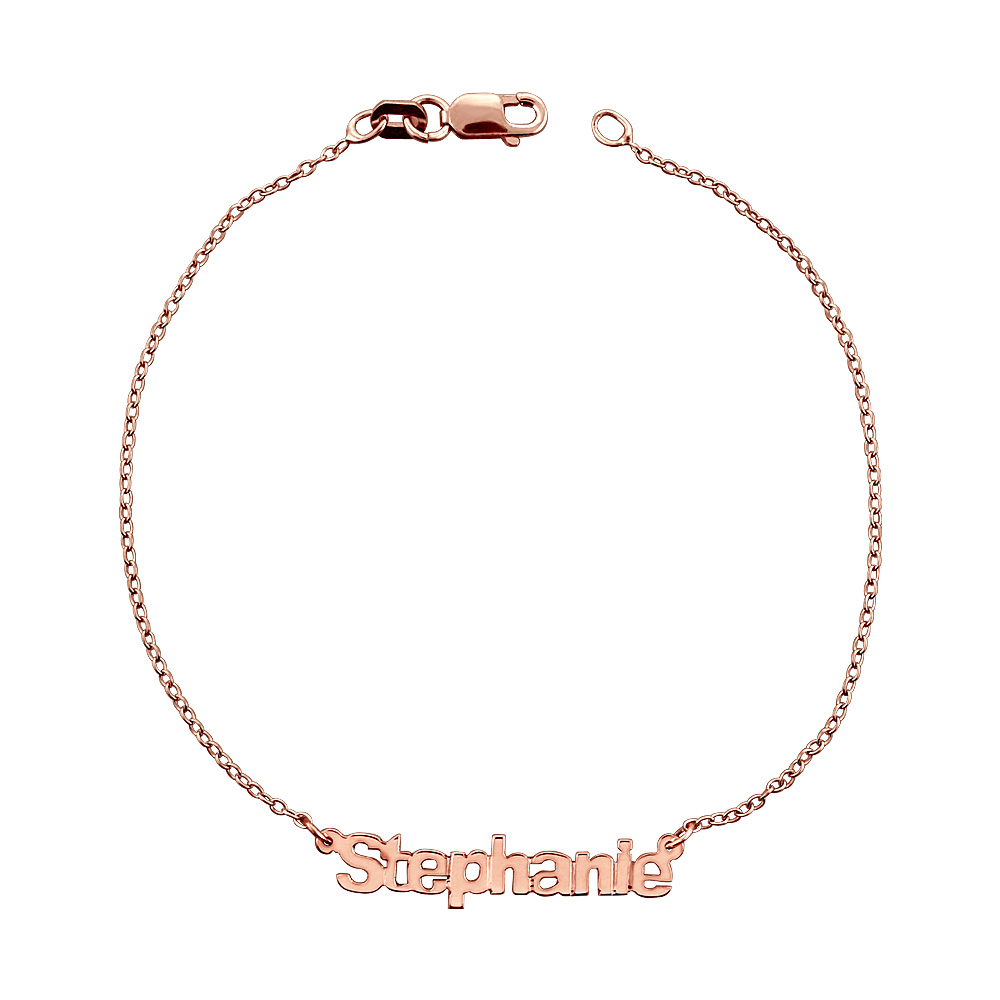 Rose Gold Nameplate Bracelet