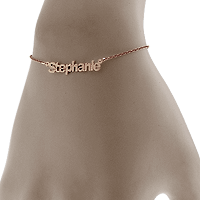 Rose Gold Nameplate Bracelet Fit