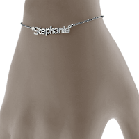 White Gold Nameplate Bracelet Fit