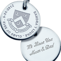 Sterling Silver Custom Graduation Charm Engraving