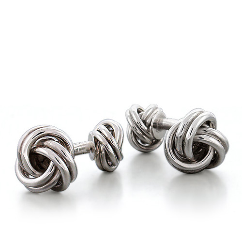 Sterling Silver Vintage Double Knot Cufflinks Picture