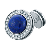 HIS� - Signature Diamond and Lapis Lazuli Sterling Silver Cufflinks