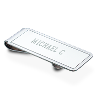 money clip engraving detail